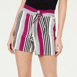 INC XS Magenta Flame Striped Shorts NWT BB47